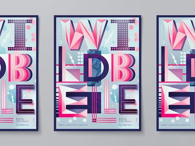 Wild Belle SXSW Poster texture color illustration line 3d musician custom event austin typography music poster