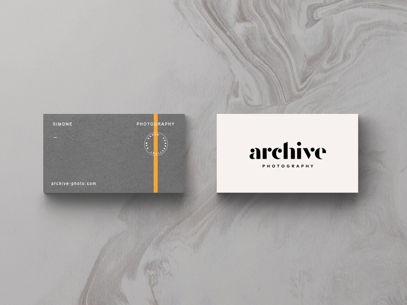 Archive Part II stripe modern typography identity badge branding logo print card photo stationary business card