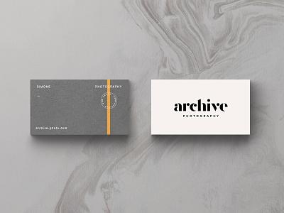Archive Part II stripe modern typography identity badge branding logo print card photo stationary business card