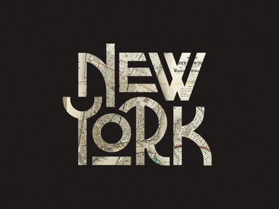 Big Apple texture lettering vintage city lockup ligature branding logo typography map apple new york