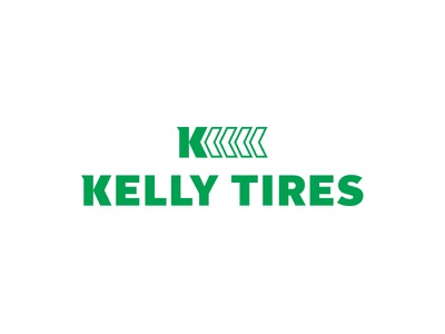 Kelly Tires mechanic modern auto car green icon mark branding typography symbol tires logo