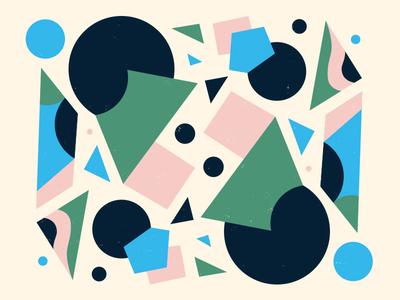 Pattern exploration vintage mid century geometric paint illustration color shape art abstract pattern