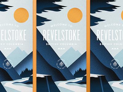 Revelstoke BC II illustration branding snowflake nature outdoors ski mountains poster canada typography badge logo