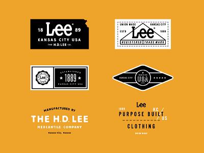 Lee Jeans symbol campaign identity kansas city typography jeans branding logo badge