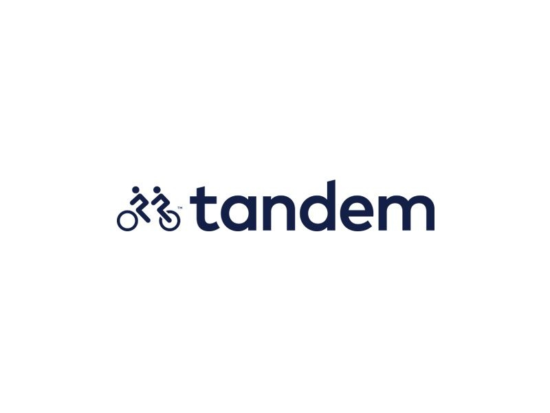 Tandem  people california business logotype modern typography cycle bike tandem branding mark logo