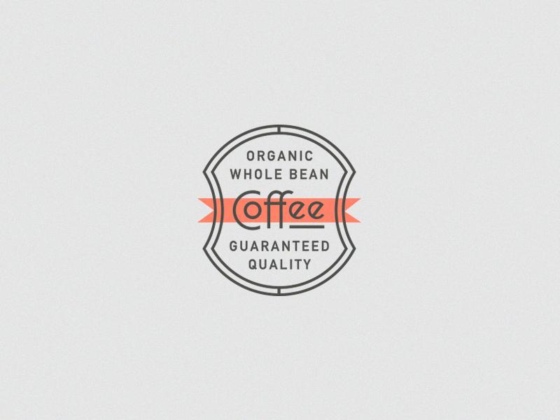 Coffee detail logo banner drink branding stamp shield typography crest badge packaging coffee