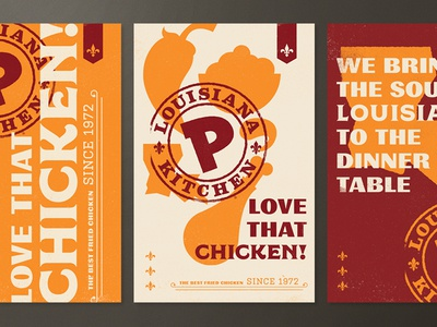 Popeyes (Brand Exploration) pepper louisiana ingredients stamp southern illustration logo chicken typography branding restaurant food
