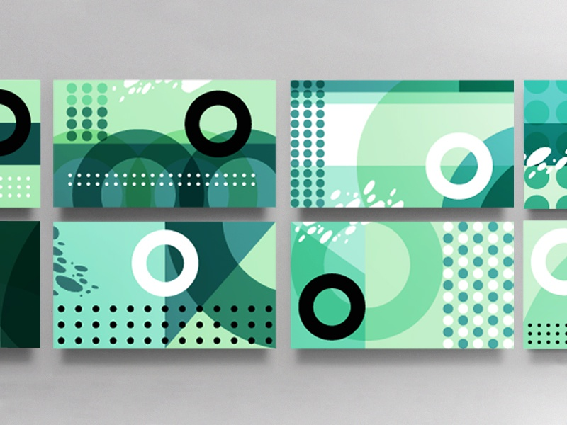 Business Card System circle geometric modern branding pattern texture typography letter logo stationary business card