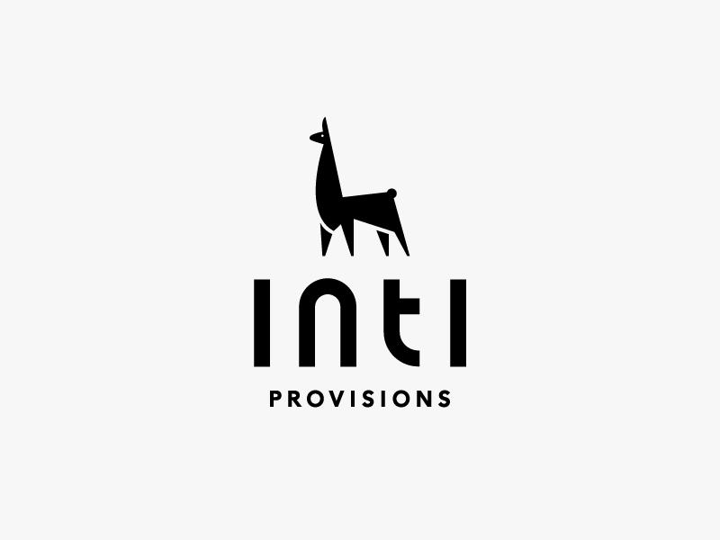 Inti Provisions texas austin logotype branding lockup mark typography peru llama logo food