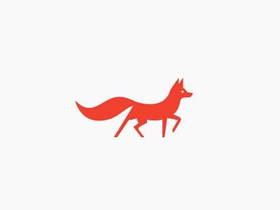 Fox forrest symbol nature branding mark simple modern illustration animal logo fox