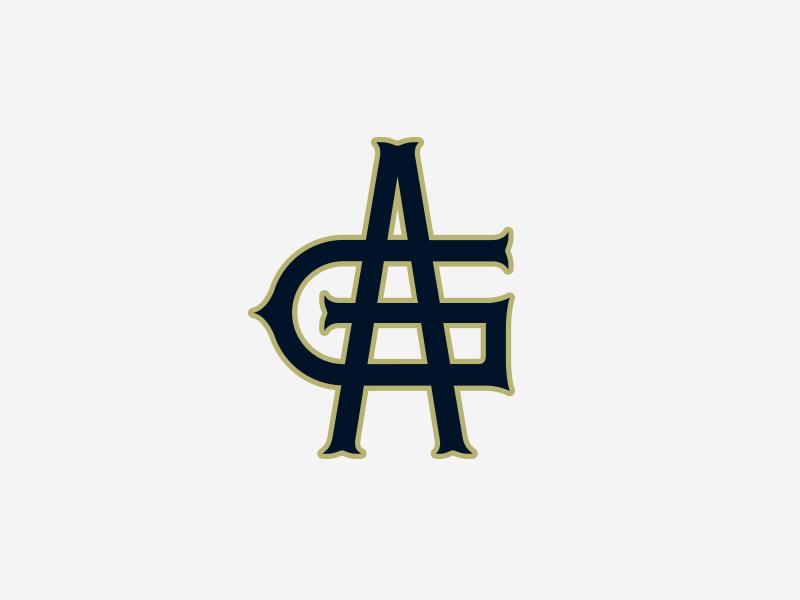 Austin Grackles I badge illustration typography letter sports vintage logo monogram baseball