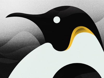 Emperor Penguin modern snow illustration arctic bird animal texture penguin