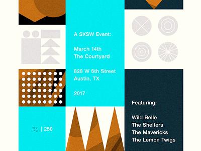 SXSW Poster typography illustration austin texas modern geometric event music poster sxsw