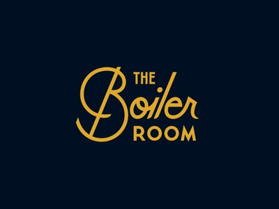 The Boiler Room illustration typography branding coaster badge lockup canada bar script logo