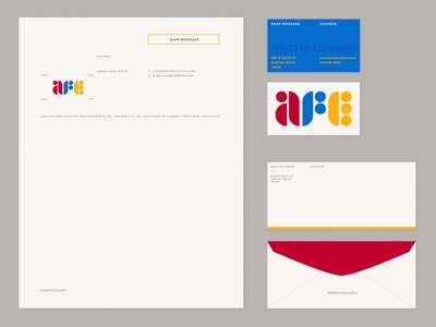 AFE Stationary school education envelope layout typography branding logo stationary business card letterhead