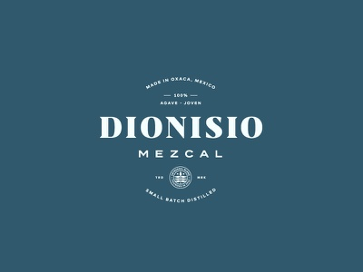 Dionisio Mezcal II leaf branding logo lockup typography alcohol mexico mezcal