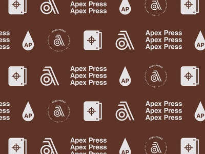 Apex Press pattern squeegee printing mark symbol press letter branding typography logo a