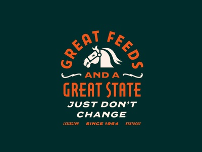 Hallway Feeds apparel branding lettering farm kentucky lockup logo illustration typography feed horse