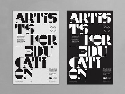AFE Poster abstract badge modern lettering branding logo illustration print layout typography art poster