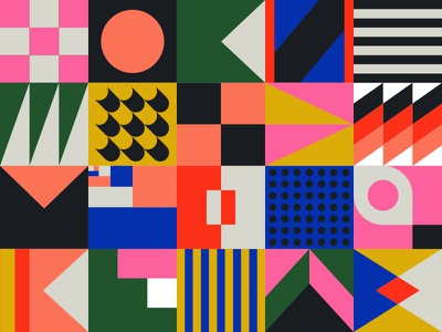 Pattern dot modern illustration abstract geometric shape pattern paper