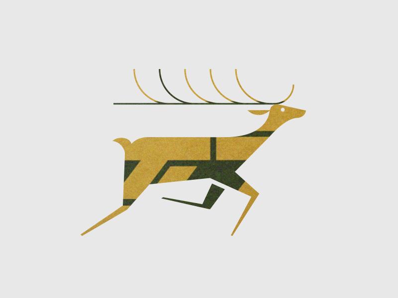 Deer pattern texture modern movement antlers illustration animal deer