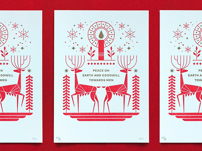 Christmas Card by Steve Wolf | Dribbble | Dribbble