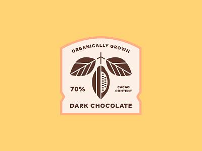 Dark Chocolate Label latte tea drink packaging branding illustration typography bean chocolate badge