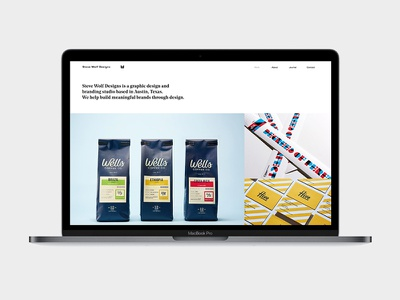 New Portfolio illustration typography portfolio logo design steve wolf website