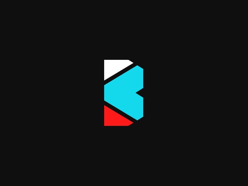 Blueprint student modern typography mark identity branding letter b logo sports