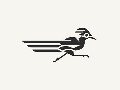 Roadrunner run fast symbol mark branding animal illustration roadrunner logo bird