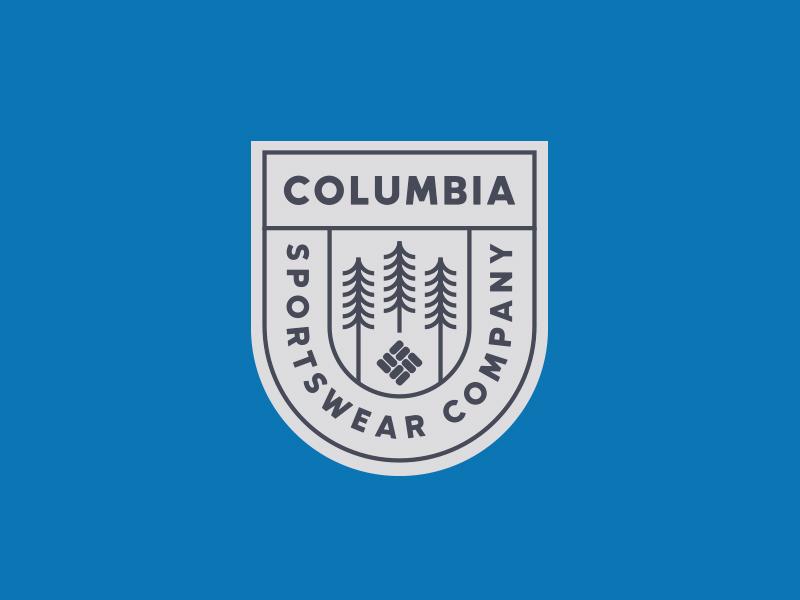 Columbia Sportswear typography branding apparel tree crest logo nature outdoors badge hat