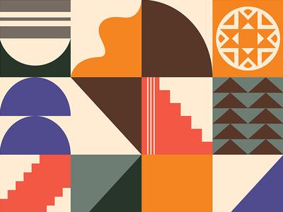 Pattern illustration arizona color texture shapes art pattern