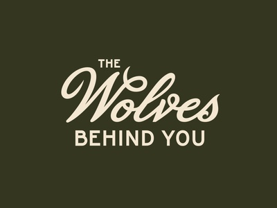 The Wolves Behind You branding wolf motorcycle lockup typography script logo