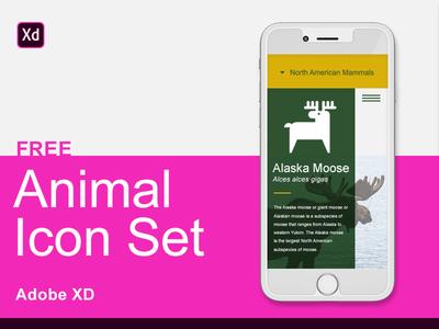 Adobe XD Free Animal Icon Set