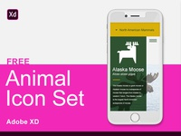 Adobe XD Free Animal Icon Set