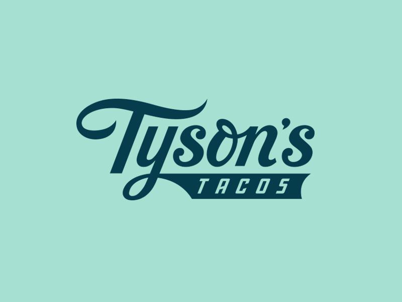 Tyson's Tacos texas austin restaurant script mexican lockup branding typography logo taco