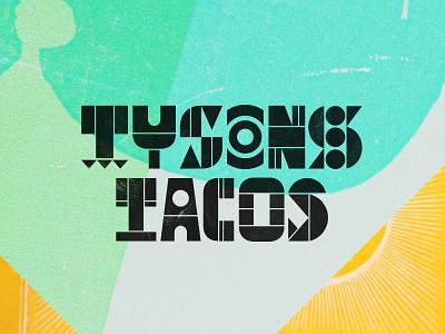 Tyson's Tacos texas austin restaurant cut mexican lockup branding typography logo taco