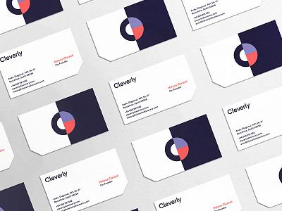 Cleverly illustration pattern symbol print typography c stationary business card branding logo