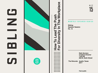 Sibling illustration badge pattern austin modern typography logo branding poster