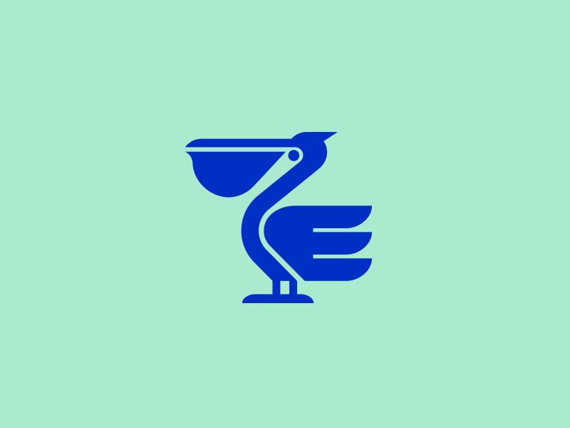 Pelican wing animal pelican ocean bird modern illustration branding logo