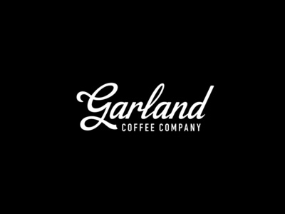 Garland Coffee coffee arizona script design illustration branding typography logo