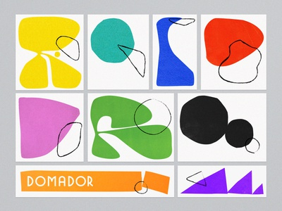 Domador design abstract art geometric modern illustration branding typography