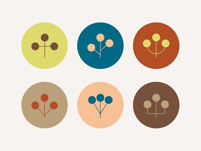 Japanese Plants badge plant illustration branding plant logo icon plant flower asia japan