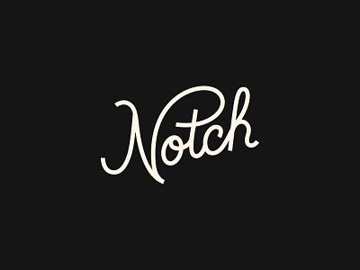 Notch script lettering script illustration branding typography logo