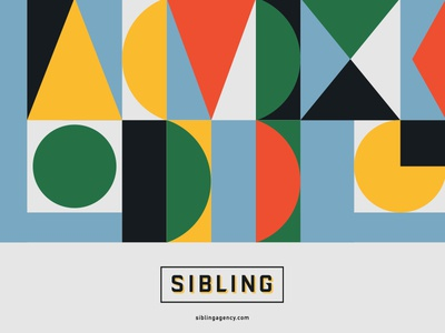Sibling abstract design poster logo branding pattern geometric modern illustration typography