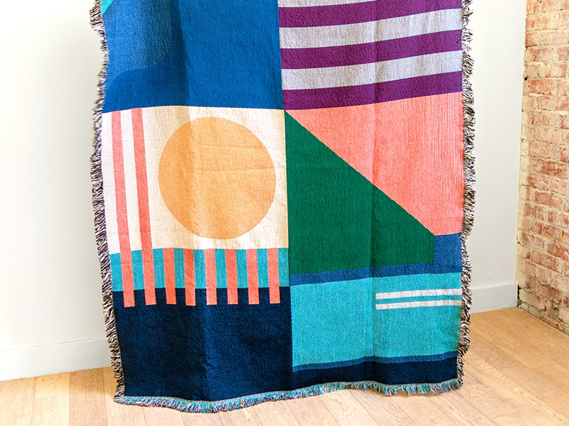 Throw & Co Blanket design geometric pattern abstract blanket