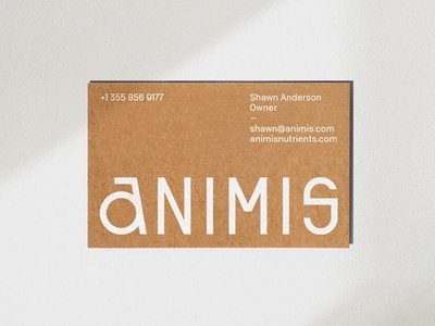Animis Nutrients Business Card