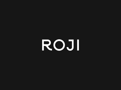 ROJI beverage tea lockup modern badge illustration branding typography logo