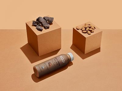 ROJI Dutch Chocolate Bottle package design branding typography logo