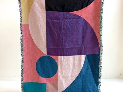 Throw & Co Blanket pattern design throw abstract geometric art geometric blanket illustration